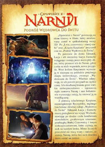 Tył ulotki filmu 'Opowieści Z Narnii: Podróż Wędrowca Do Świtu'