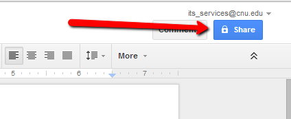 Share Button In Google Doc