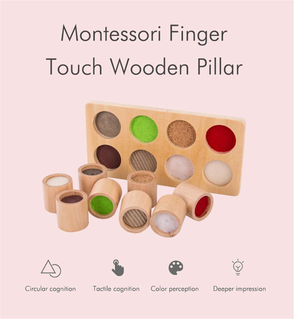 plateau sensoriel activité montessori différentes matières