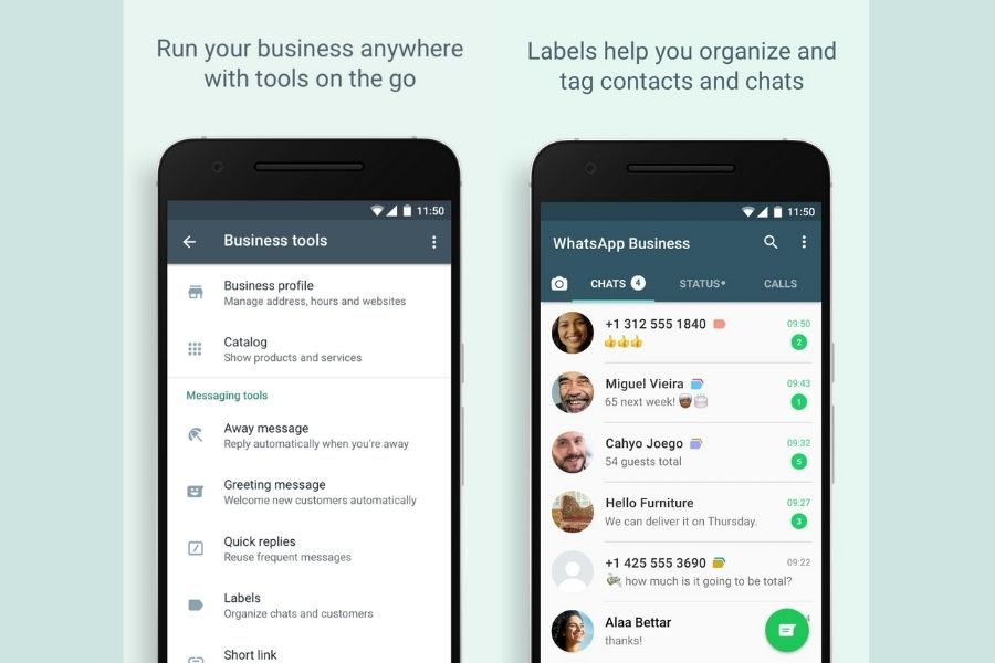 WhatsApp Business Labels
