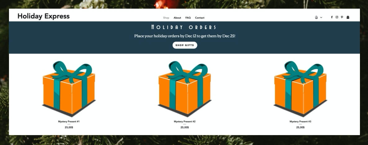 holiday order-by banner