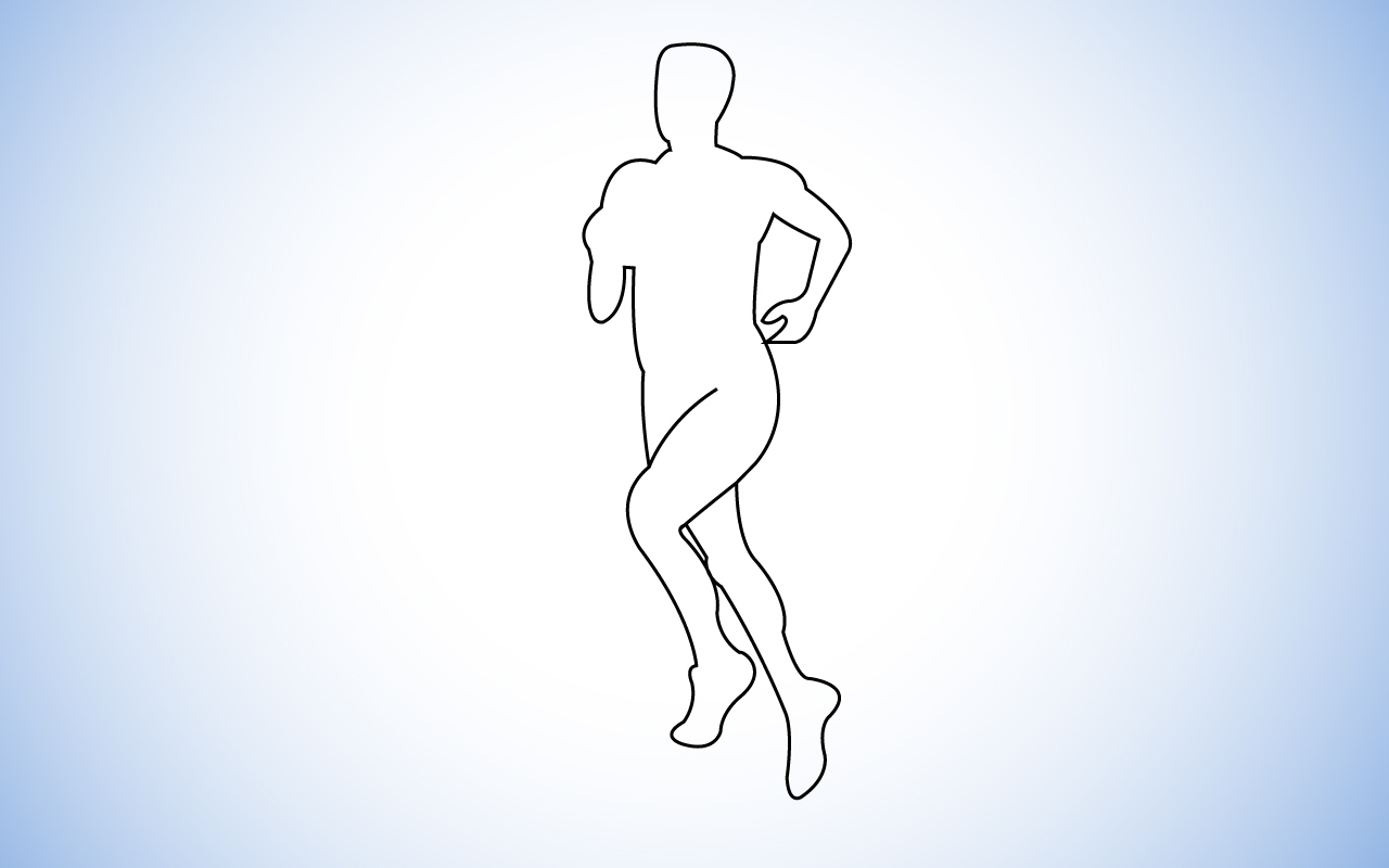Diagram of a runner in an Ultramarathon.