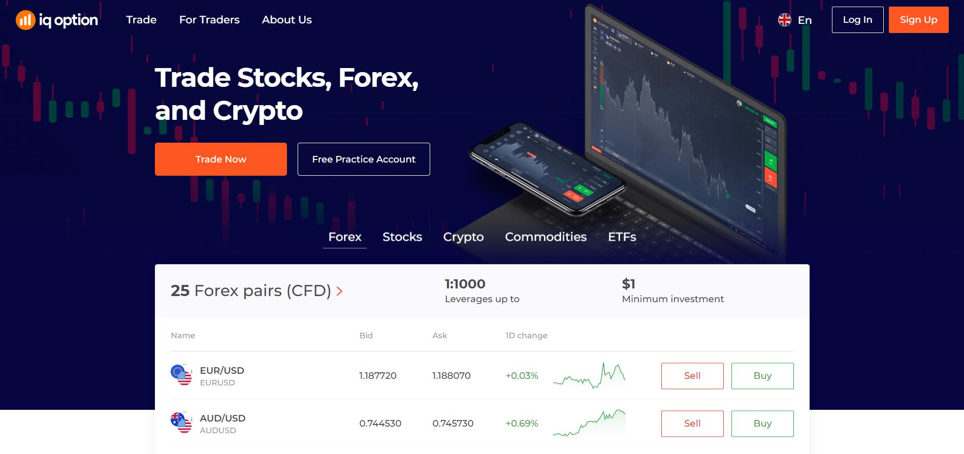 IQ Option official website