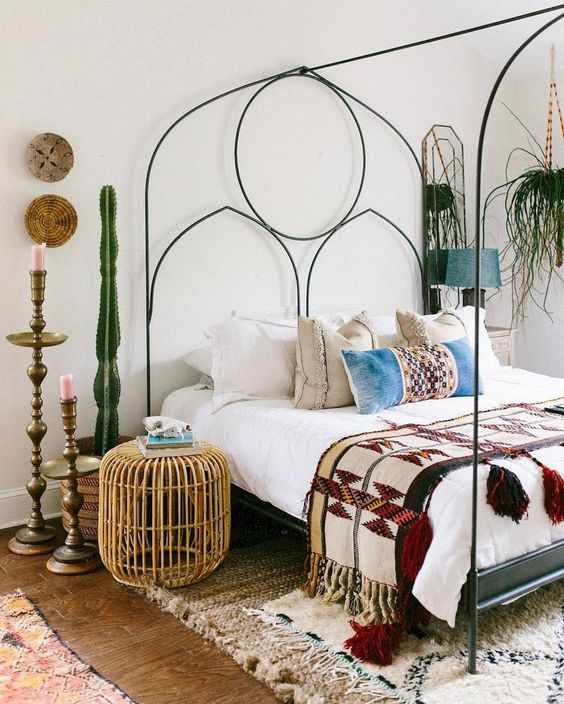 Moroccan-Inspired Bed Frame