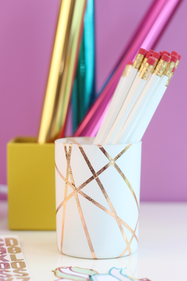 foil pencil cup, a craft that makes money