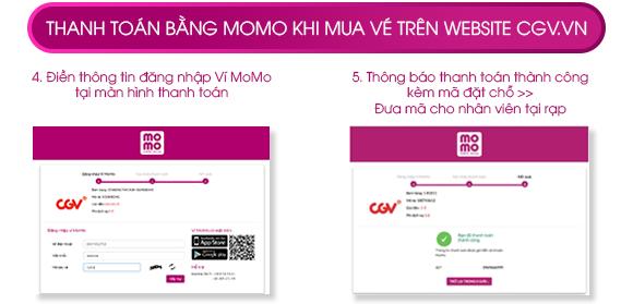 Cách 2. Mua vé tại website https://www.cgv.vn/