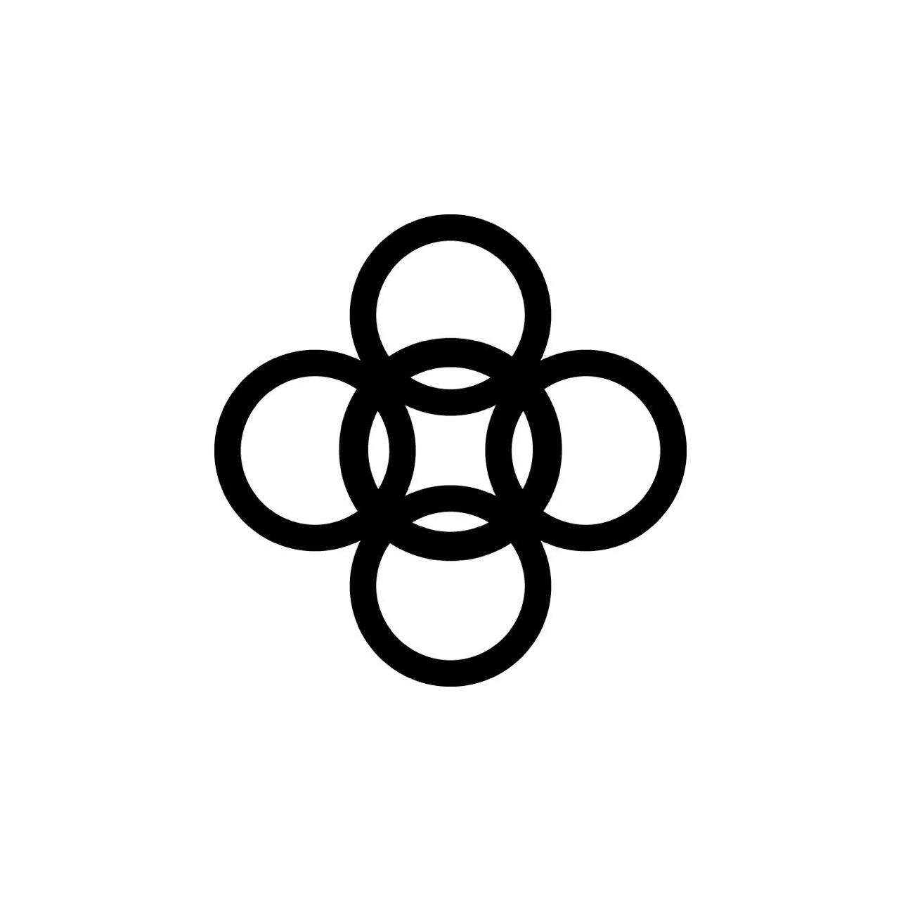 alesso-has-an-abstract-logo-design-with-five-circles-forming-a-floral-silhouette