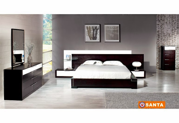 2017 modrest ancona italian modern black bedroom set