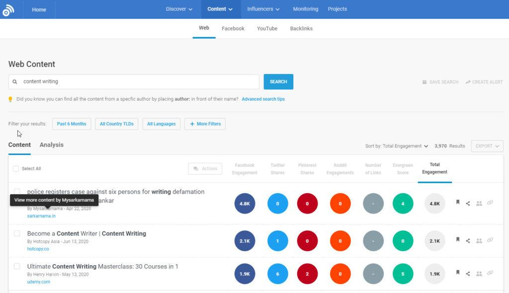 Buzzumo content curation tool