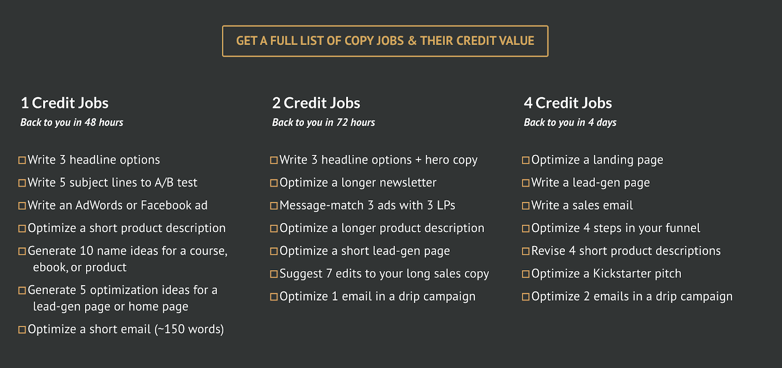 Secondary pricing for freelancers