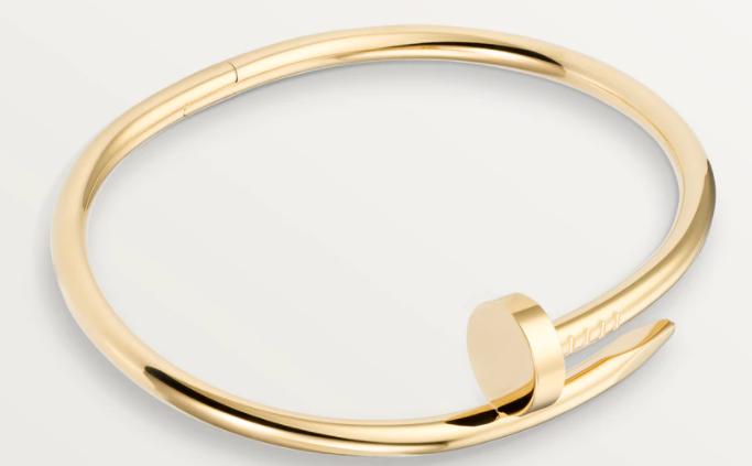 3. กำไลข้อมือผู้หญิงแบรนด์ Cartier รุ่น Juste Un Clou Yellow Gold Bracelet