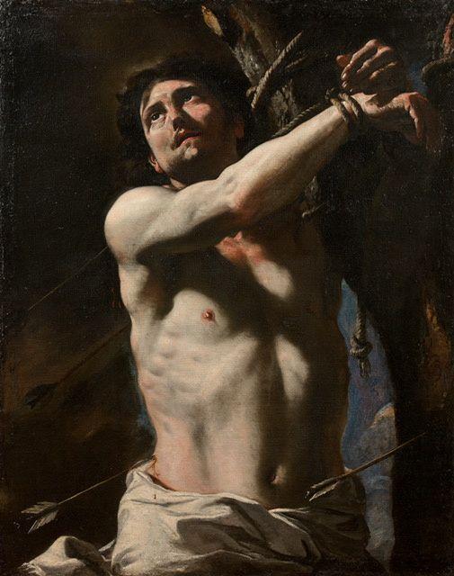 Oeuvre Tableau du martyr Saint-Sébastien de Mattia Preti, XVIIe siècle