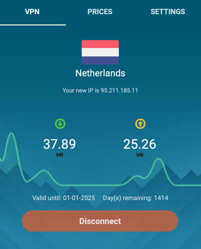 Whoer VPN performance in the Netherlands