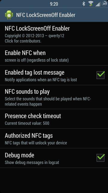 NFC LockScreenOff Enabler: разблокировка NFC-тегом