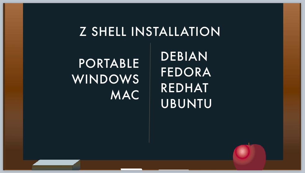unix shells - z shell installation