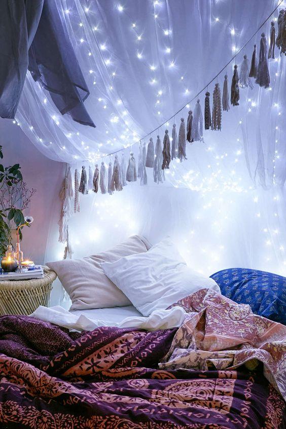 Warm Sleeping Space with Fairy Lights