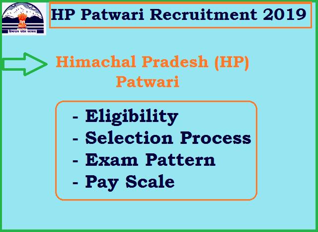 Himachal Pradesh Patwari Recruitment 2019: 1194 Vacancy, Online Form, Salary, Syllabus, Previous Papers