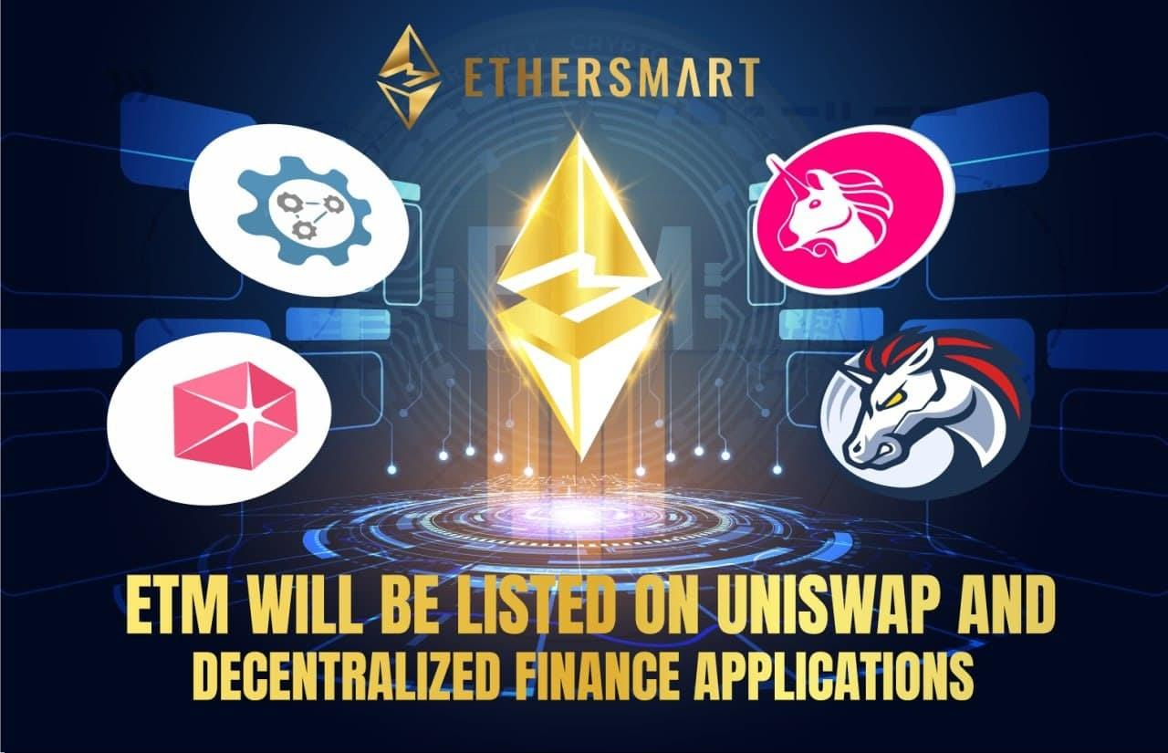Ethersmart Token Officially Listed On The World's Largest Cryptocurrency Platforms