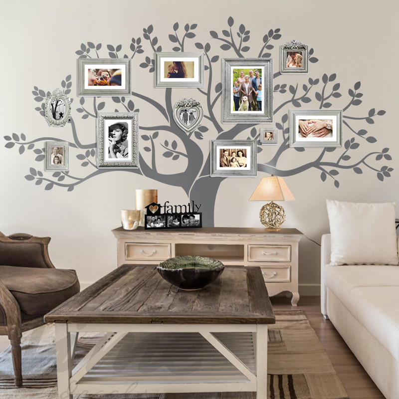Combine Big Wall Decals with Custom Photos large walll decor ideas