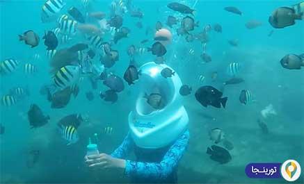 غواصی در زیر آب