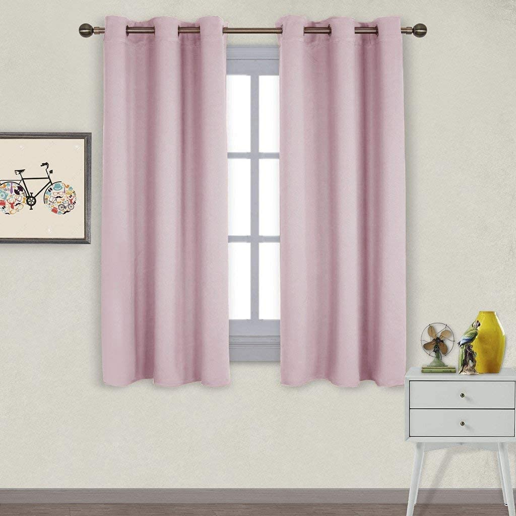 NICETOWN Nursery Essential Thermal Insulated Solid Grommet Top Blackout Curtains