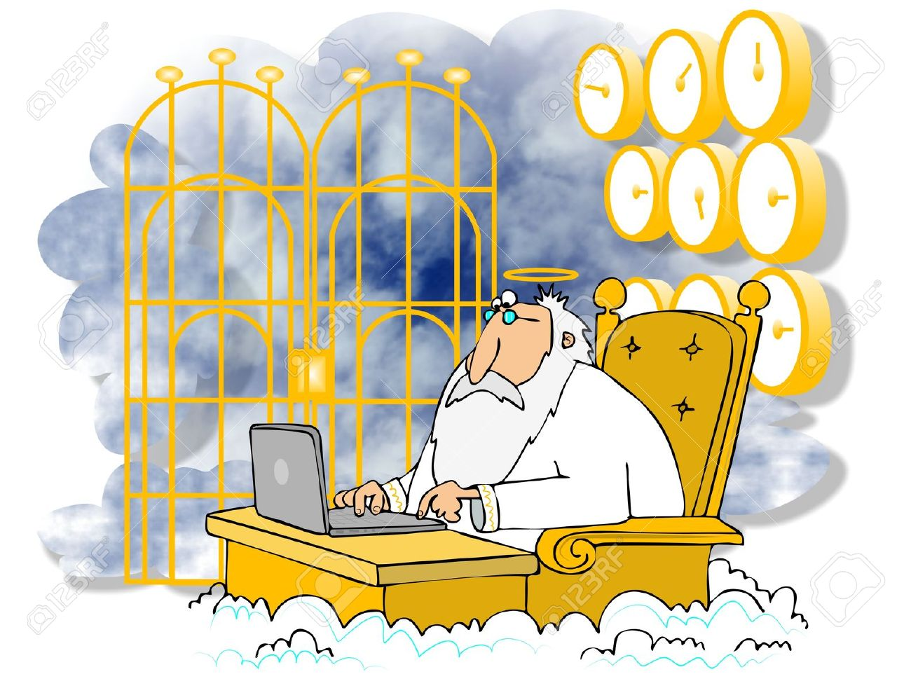 Image result for pearly gates cartoon