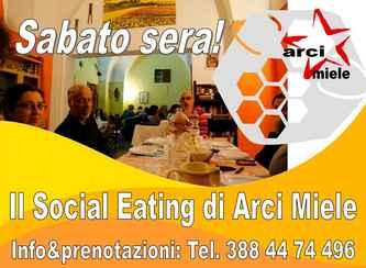 Sabato sera il Social Eating di Arci Miele