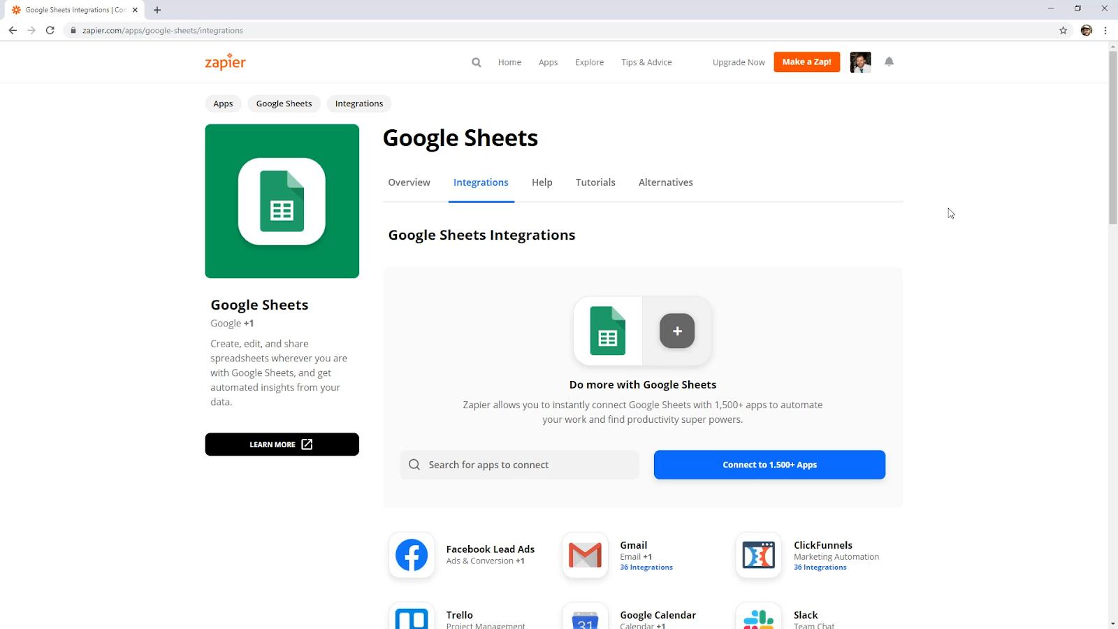 google sheets zapier
