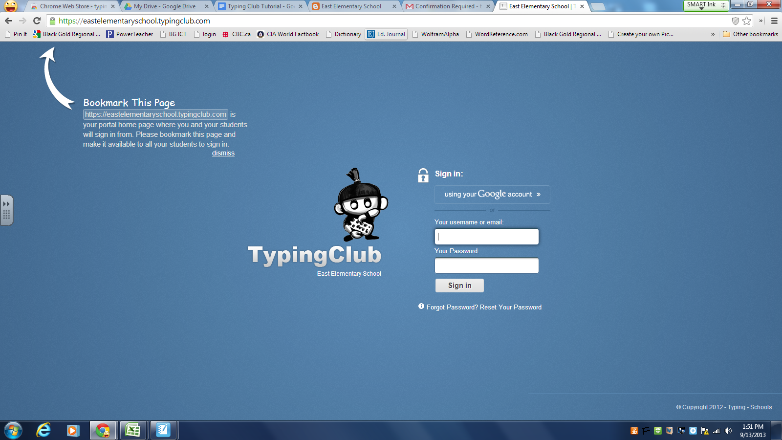 11. Choose a name for your Typing Club. Select 'Set Portal and ...