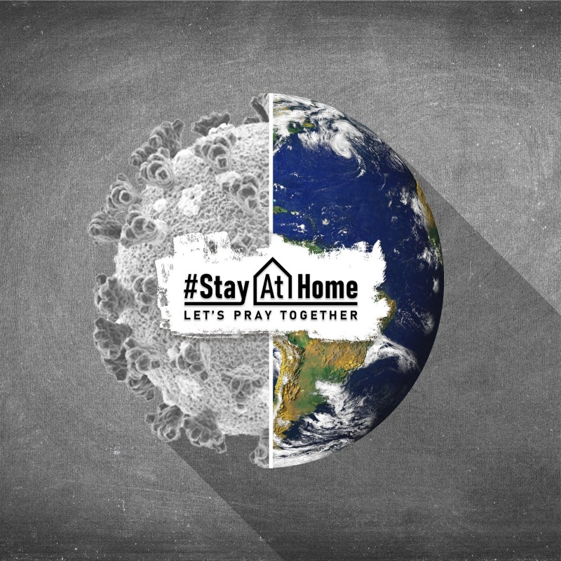 stay at home earth picture