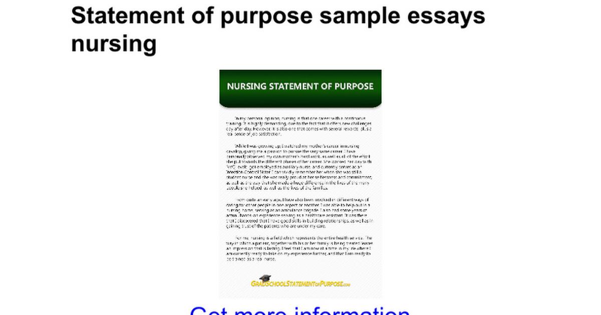 nursing statement of purpose Msn np acute care nurse practitioner personal statement of purpose nursing schoo, letter of intent, goals, writing service.