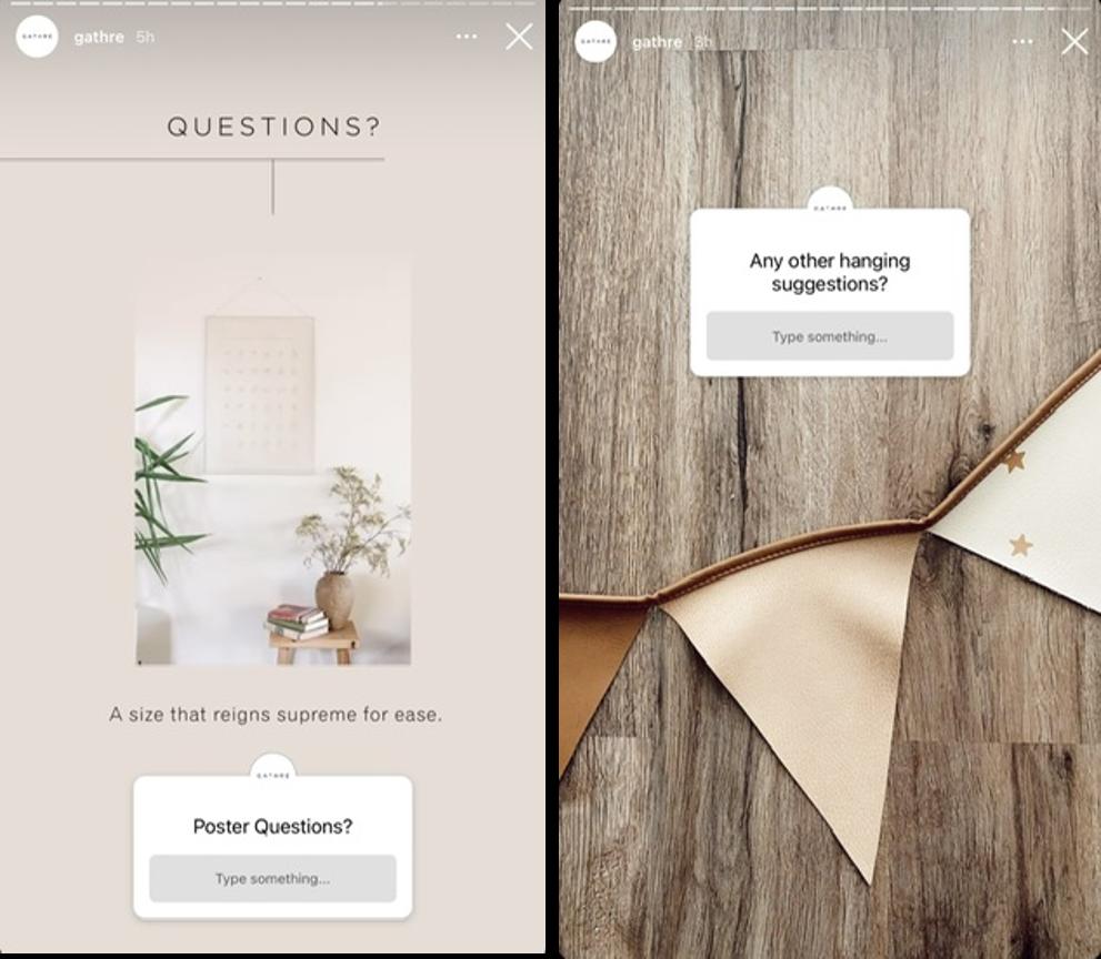 Pytania na Instagramie – zrzuty ekranu
