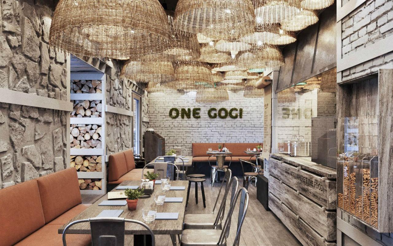 В одесском ресторане «One Gogi» вы не ждете долго блюдо, а получаете его буквально сразу, в течение 15-20 минут.