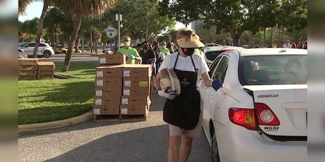 The All Faiths Food Bank in Sarasota, Fla.has set a goal to hand out 9,000 turkeys by for Thanksgiving.