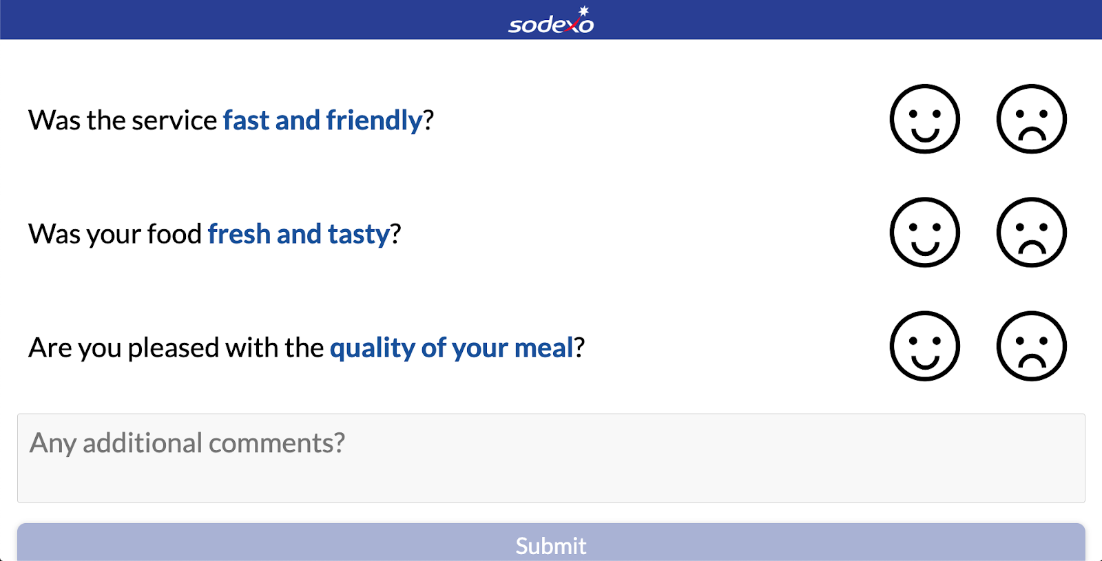 Sodexo captures customer feedback through insightful surveys