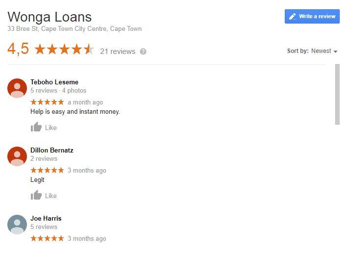 wonga reviews in detail