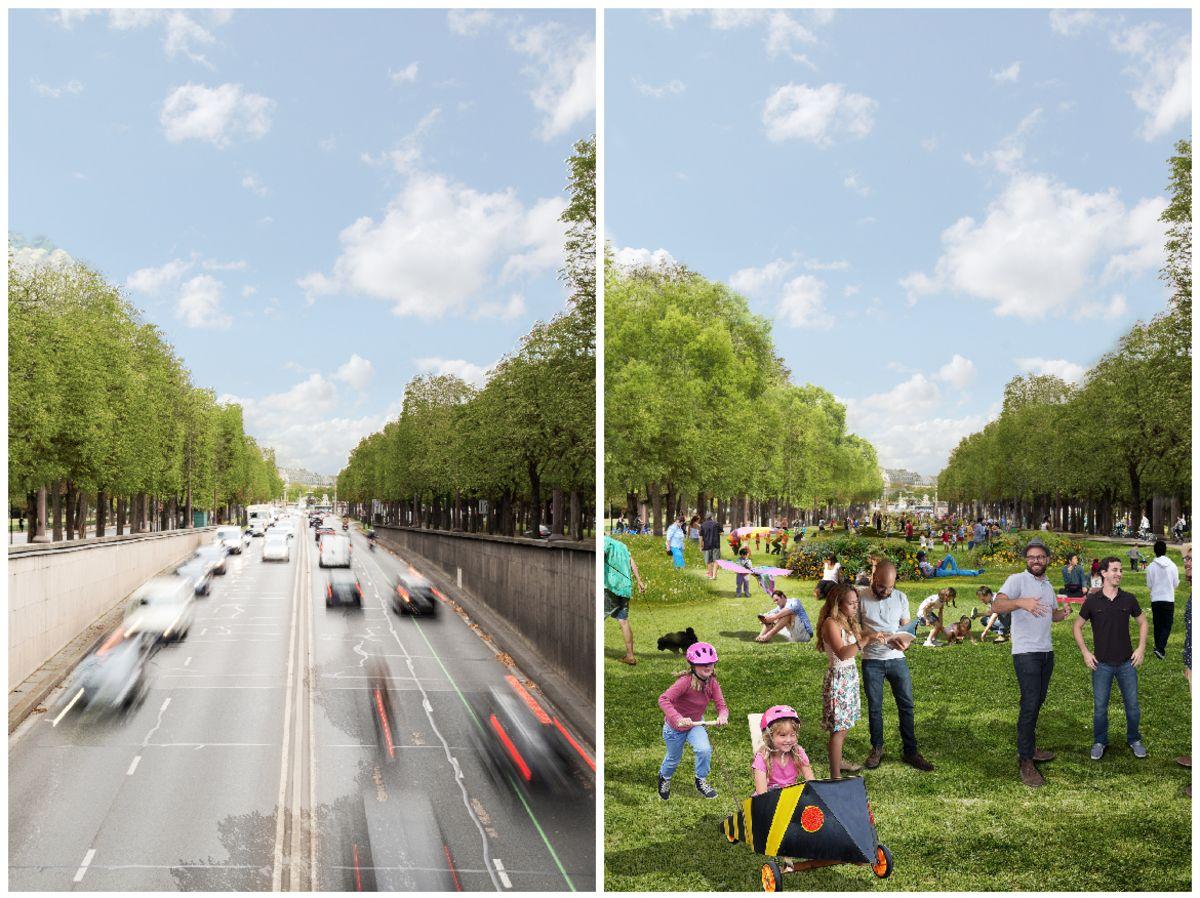 Carros darão lugar a um espaço ideal para pedestres. (Fonte: Reprodução/PCA-Stream)