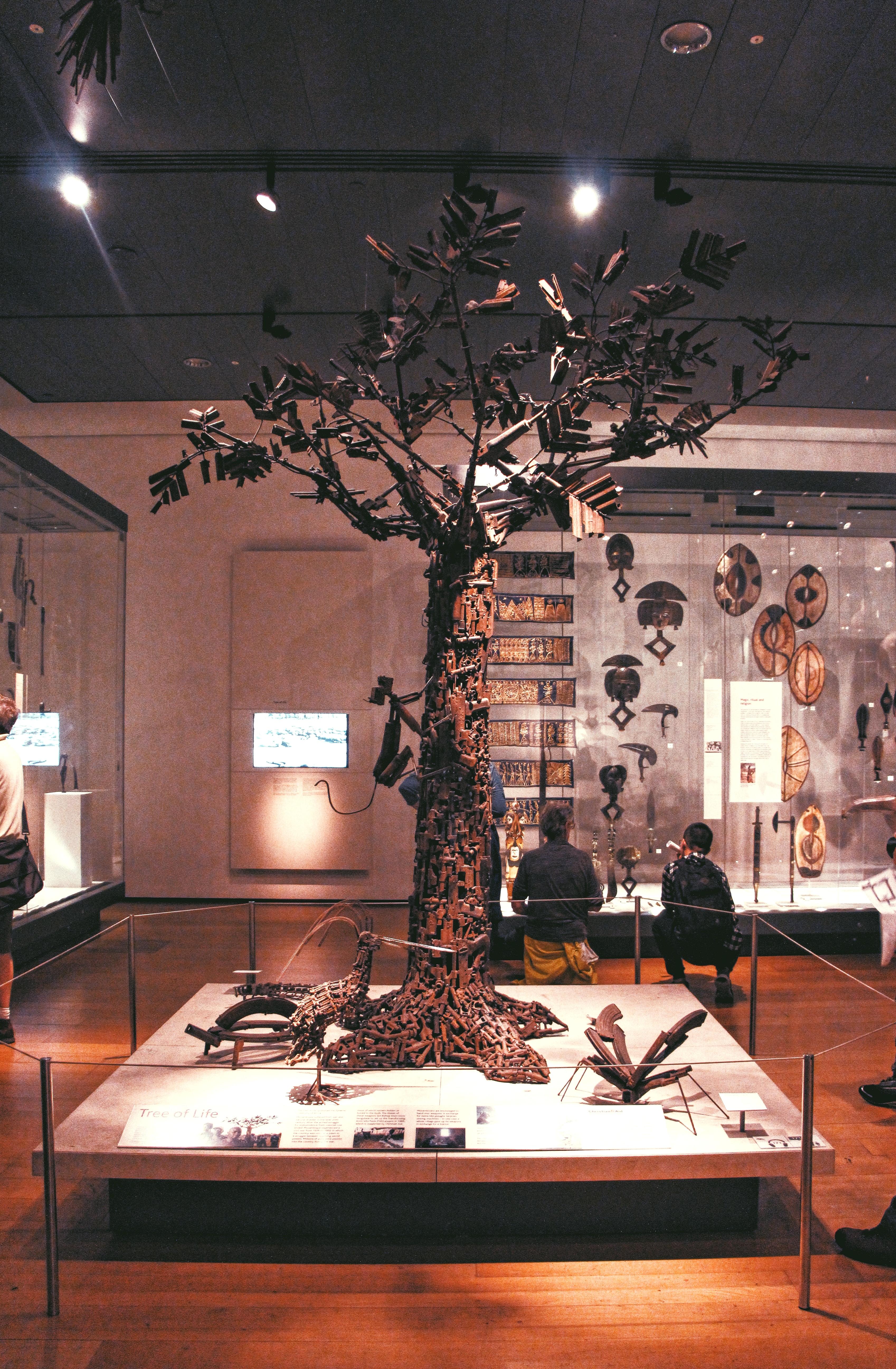 "Londra, opera d'arte ""tree of life"" al British Museum"