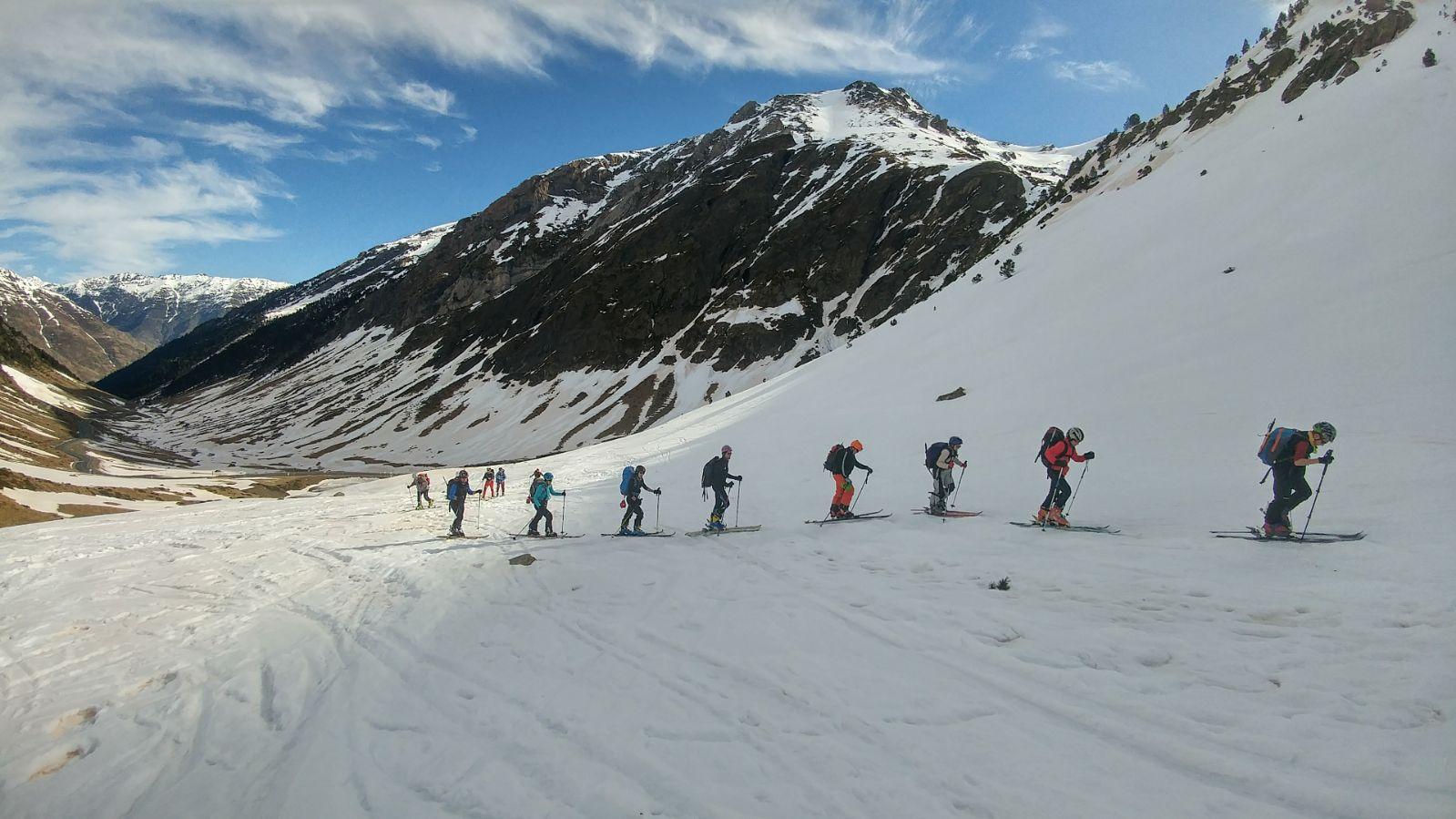 Finalizado el curso de iniciación al esquí de montaña.