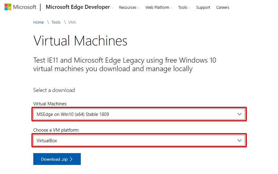Virtual Hacking Lab - Download Microsoft Windows 10 VM for VirtualBox. Source: nudesystems.com