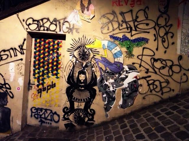 Граффити вблизи Монмартра