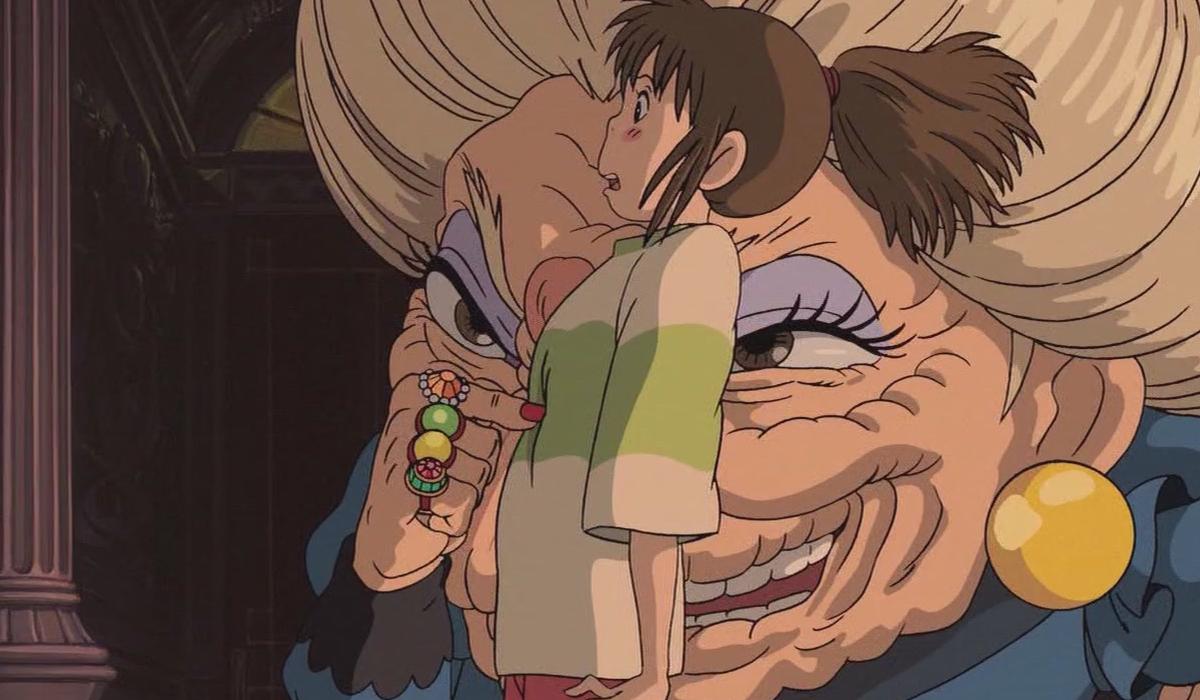 Chihiro meets the sorceress Yubaba
