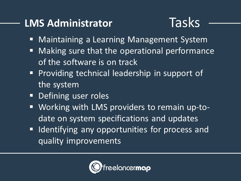 Responsibilities of an LMS Administrator