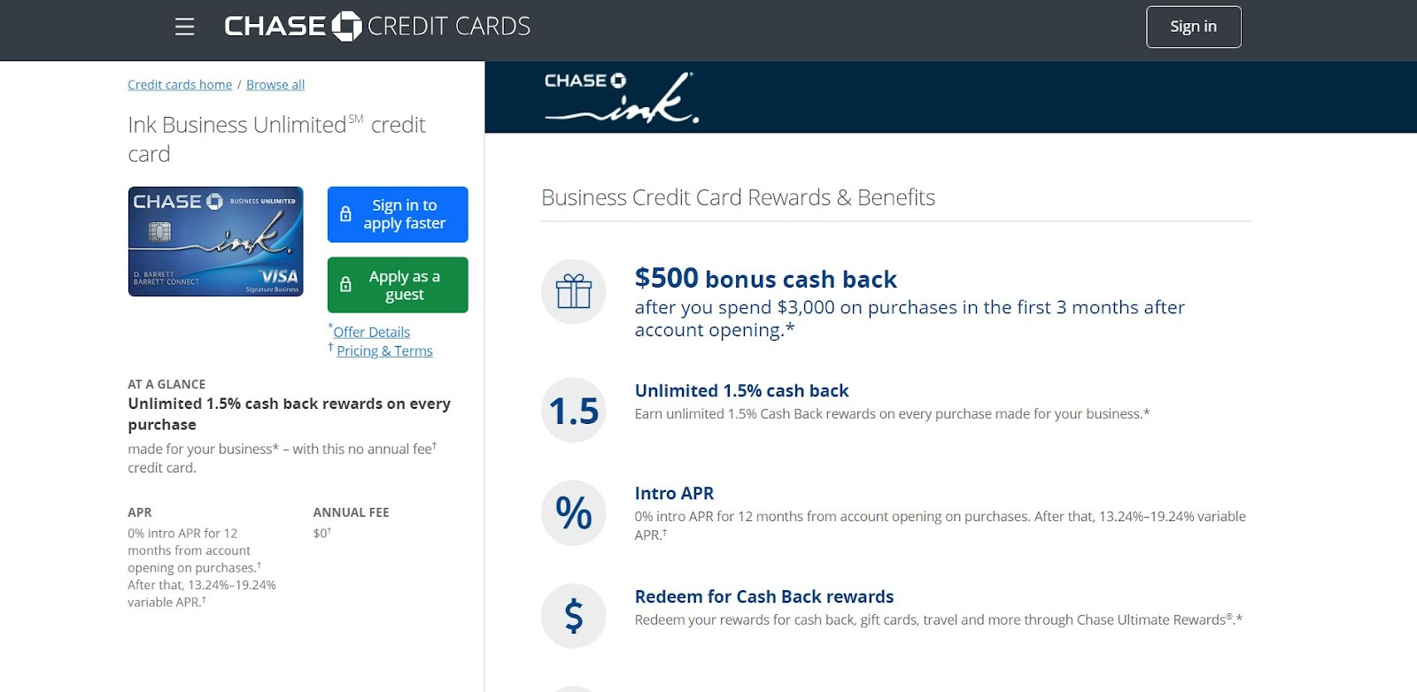 Chase Ink Business Unlimited Credit Card: The Top 10 Business Credit Cards for Small Businesses