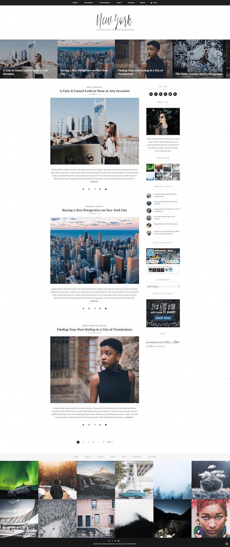Best WordPress Instagram Theme New York