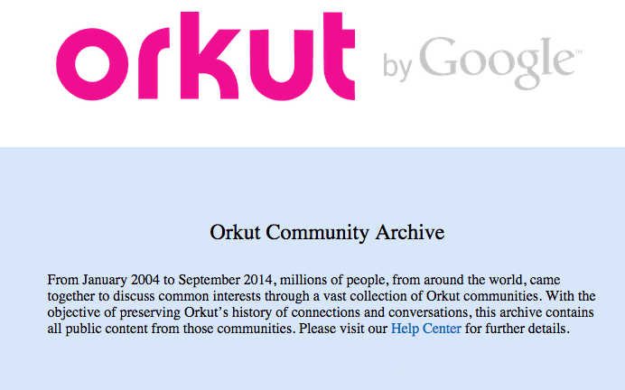 Orkut is definitief gesloten