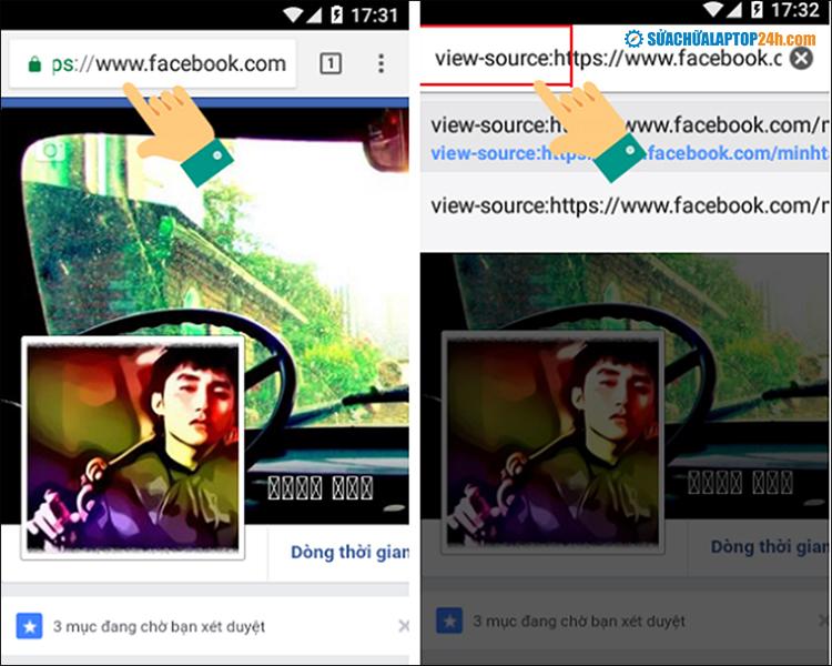 Thao tác với điện thoại Android