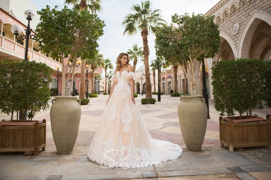 Свадебное платье принцесса со съемными рукавчиками
