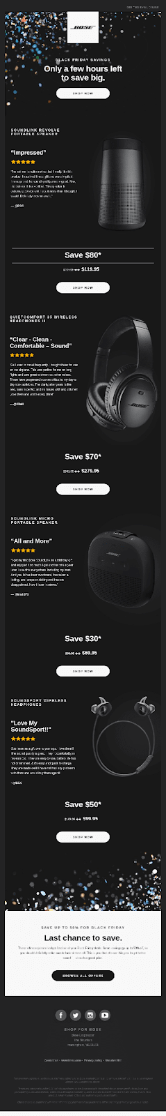 Bose email example
