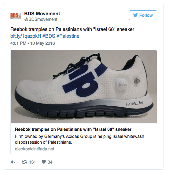 "eb7d28f47712 Reebok Israel had told The Jerusalem Post that ""these sneakers were to be a  one-time celebratory release as a collector s item in Israel and the world."